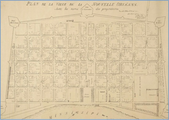 1808 Map of New Orleans