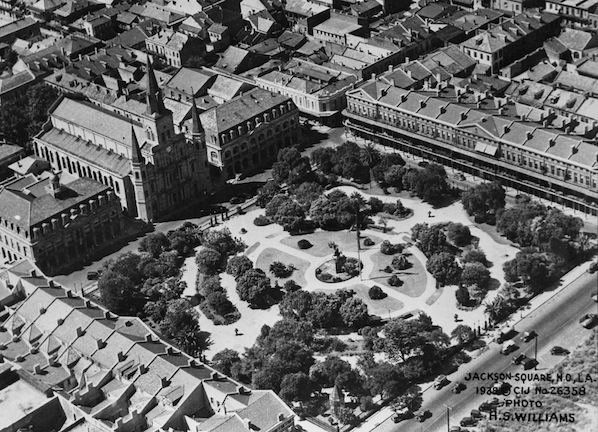 1938 aerial view of Jackson Square
