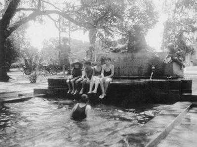 White Children in Hyams Wading Pool.