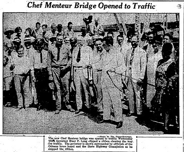 First Free Bridge Across Pontchartrain Opens