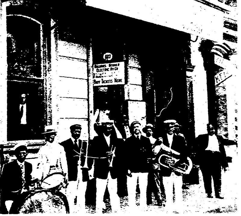 Felix Park jazz band, 1916