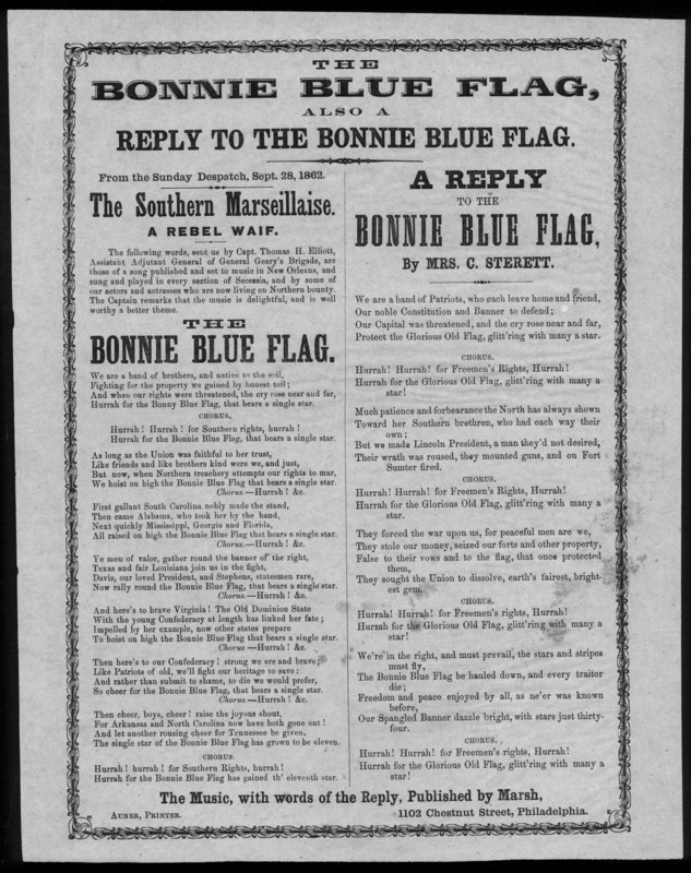 """Reply to the Bonnie Blue Flag"""