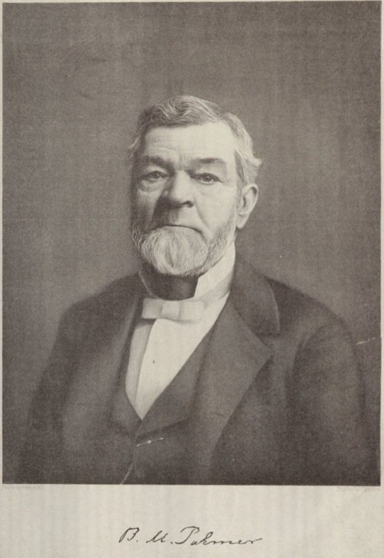 Photograph of Benjamin Palmer, Louisiana Historical Association Collection, Tulane University.