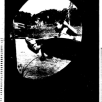 Child playing on a tire swing in Palmer Park. &lt;br /&gt;<br />