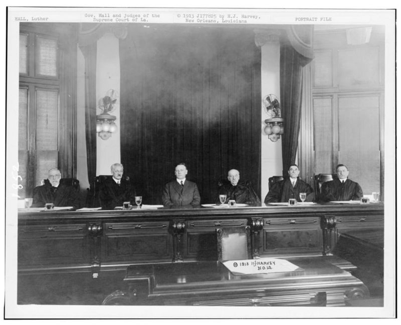 Louisiana Governor Luther Hall and Louisiana Supreme Court Justices
