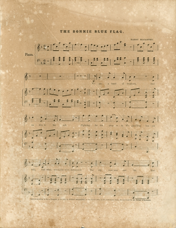 "First page of ""The Bonnie Blue Flag"" sheet music"