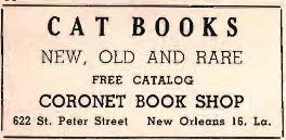 Ad for Coronet Bookshop Next Door to Le Petit Salon, 1925
