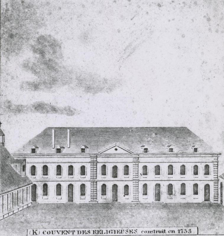 Convent as it appeared the year of the Battle of New Orleans
