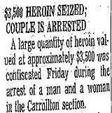 $3,5000 Heroin Seized; Couple is Arrested