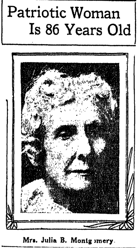 Picture of Julia Blocker Montgomery. &lt;br /&gt;<br /> &lt;br /&gt;<br /> Courtesy of the Times Picayune March 3, 1917.