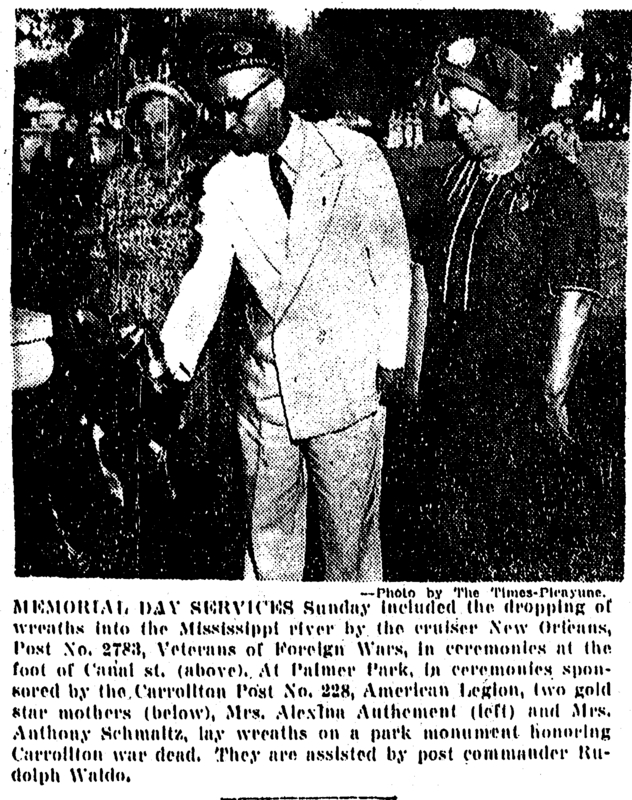 Memorial Day Palmer Park 1951.&lt;br /&gt;<br />