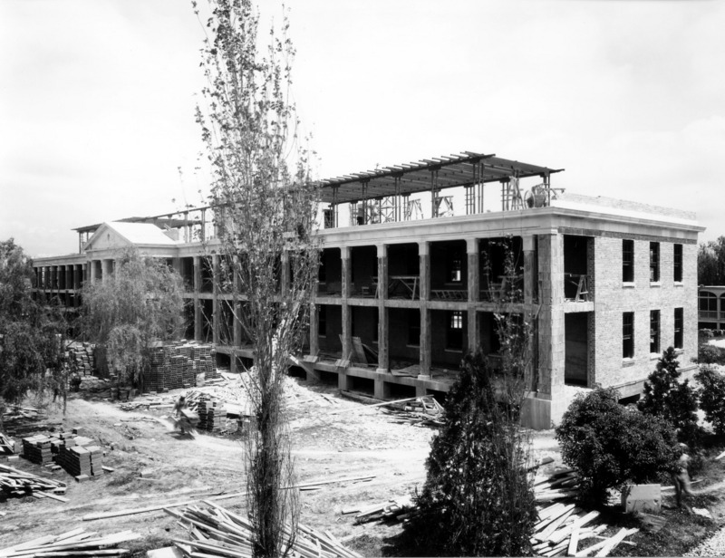 Infirmary under construction, 1933.&lt;br /&gt;<br />