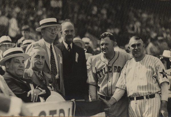 Mayor Robert Maestri & President Franklin Roosevelt, both seated (left side) in Pelican Park.