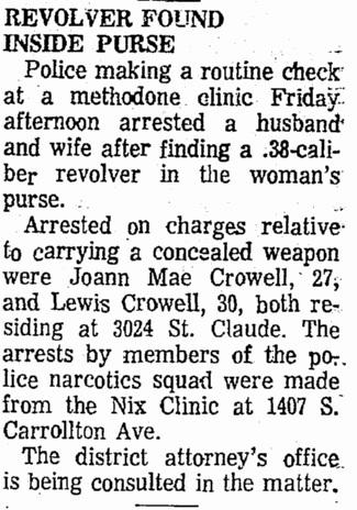 Revolver Found in Purse