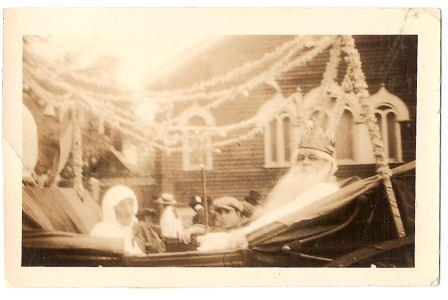 King John Fordyce rides his royal roadster, 1924