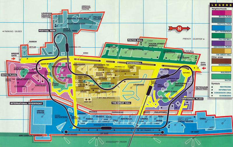 1984 Louisiana World Exposition map