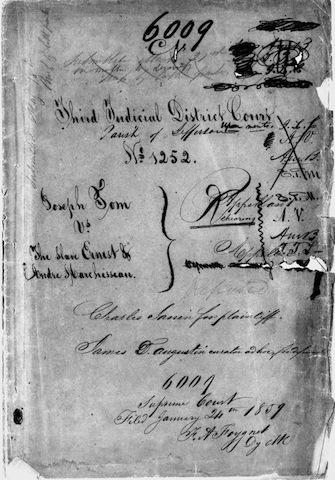 Joseph Tom v. The Slave Ernest of Andre Marchesseau
