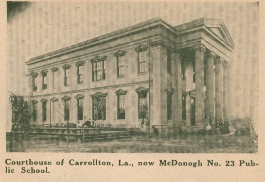 Carrollton Courthouse, rare side view