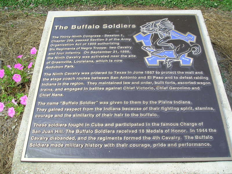 Buffalo Soldier plaque
