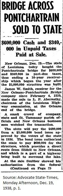 Bridge Sold to State