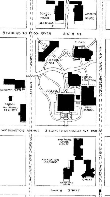 A map of the Washington Avenue campus.