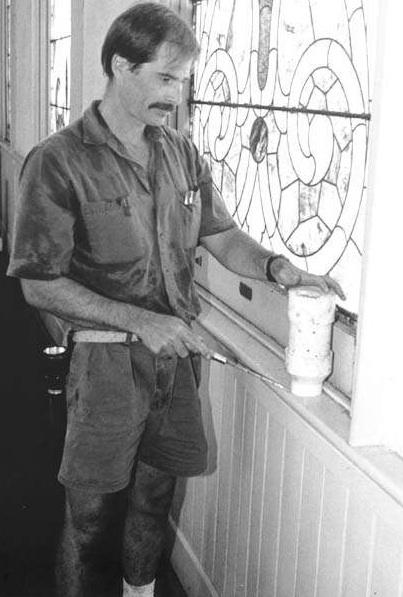 LSU Entomologist Gregg Henderson Checks Termite Bait Units