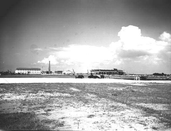 Naval Air Base unfinished runway, 1941