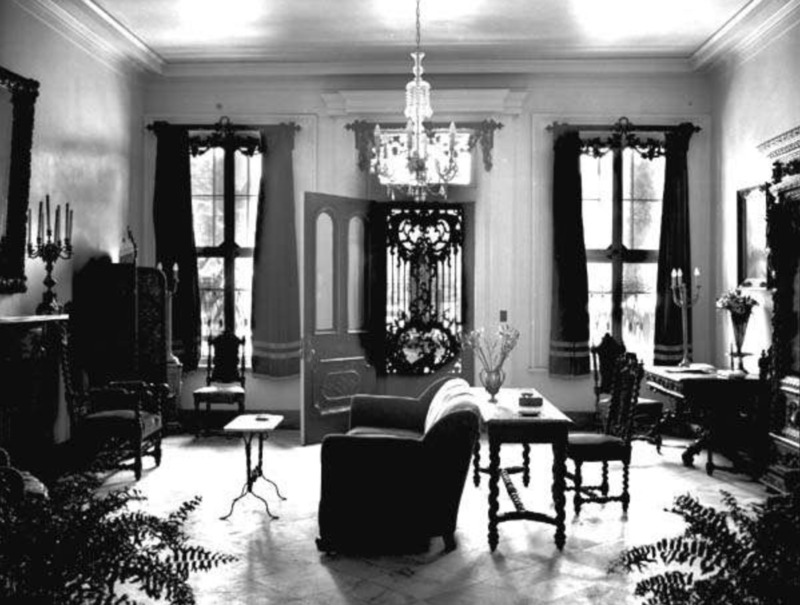 Interior of Upper Pontalba Apartment, 1937.