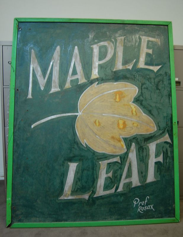 Original sign, circa mid- to late 1970s