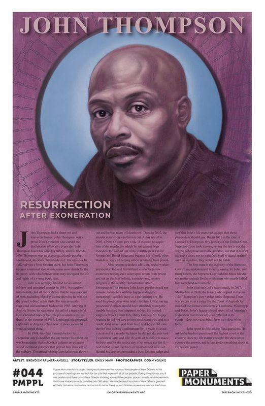 Paper Monument Poster #044: John Thompson: Resurrection After Exoneration