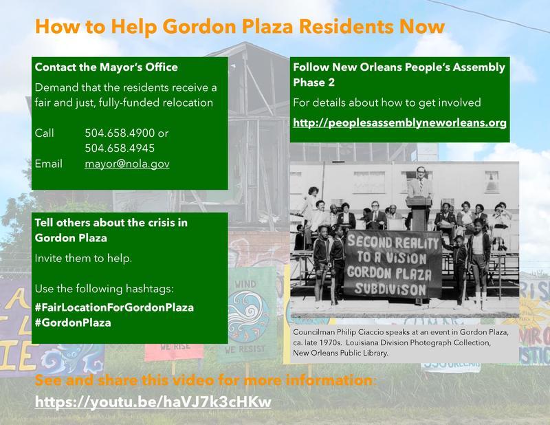 Gordon Plaza Call to Action