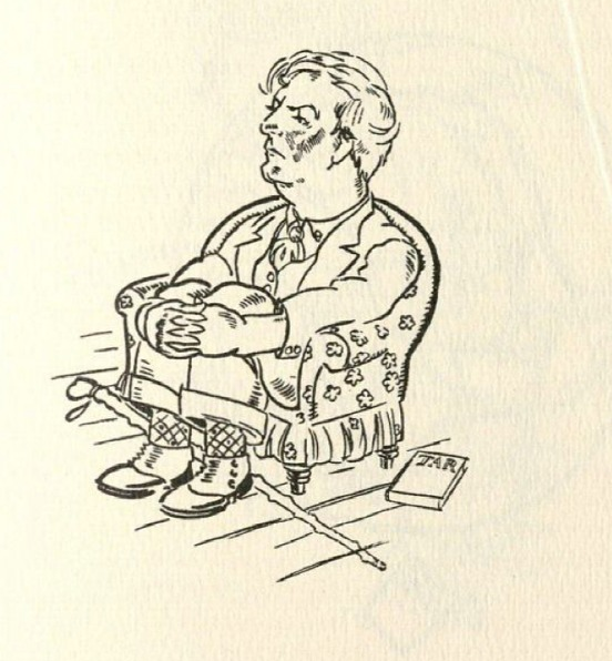 A caricature of Sherwood Anderson in William Spratling and William Faulkner's book, Sherwood Anderson & Other Famous Creoles: A Gallery of Contemporary New Orleans