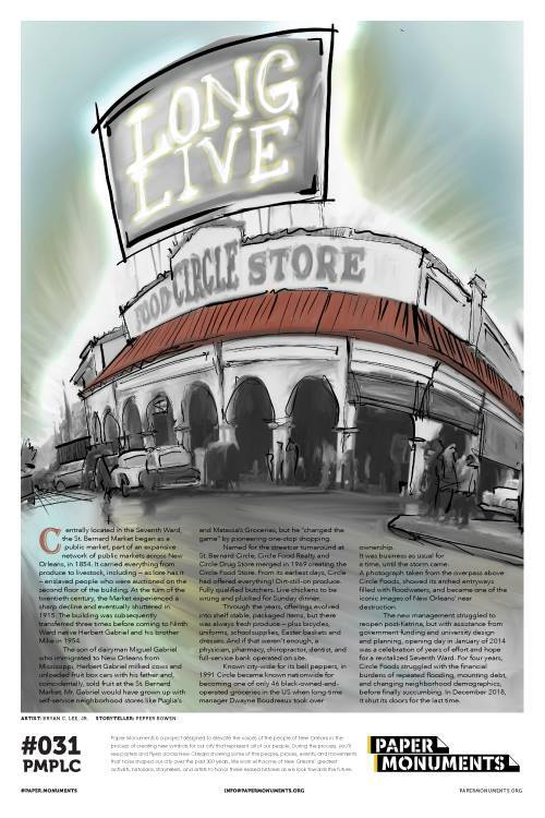Paper Monuments Poster #031: Circle Food Store