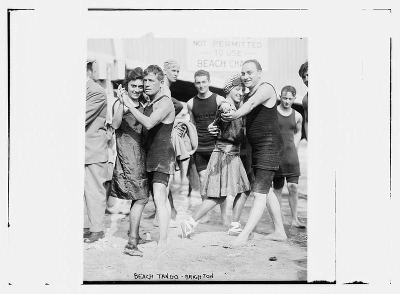 """Beach Tango, Brighton, ca. 1910."""