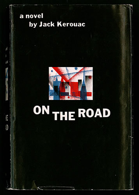 Book cover of 1957 Viking Press edition of On the Road by Jack Kerouac.