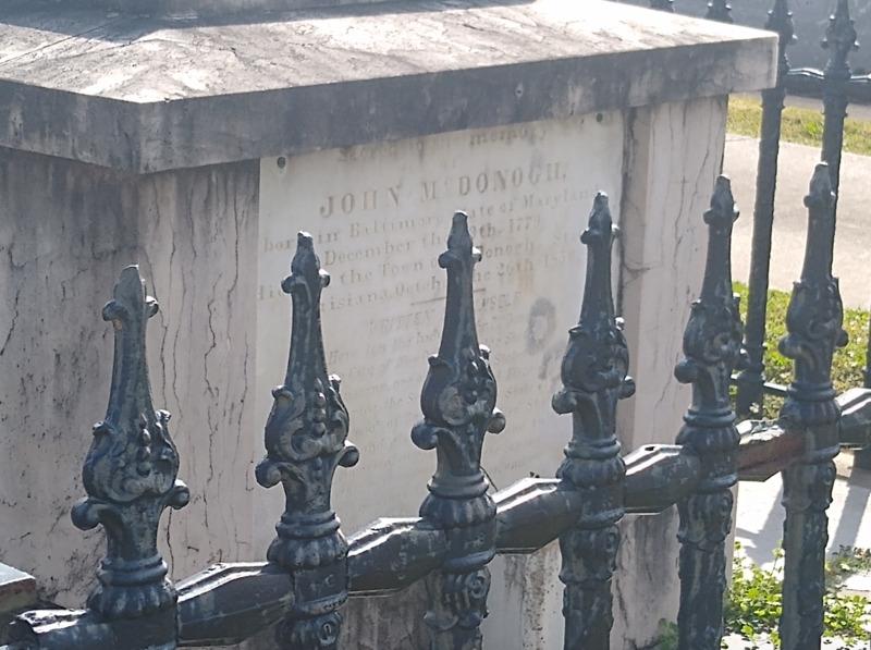 John McDonogh's Tomb, McDonoghville Cemetery
