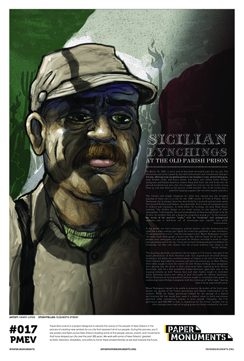 Paper Monument Poster #017: Sicilian Lynchings at the Old Parish Prison