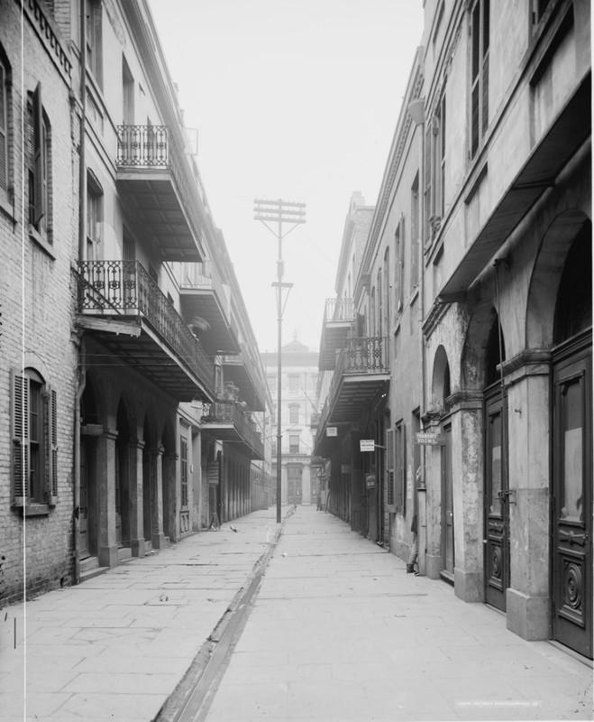 122 & 124 Exchange Alley, New Orleans LA.