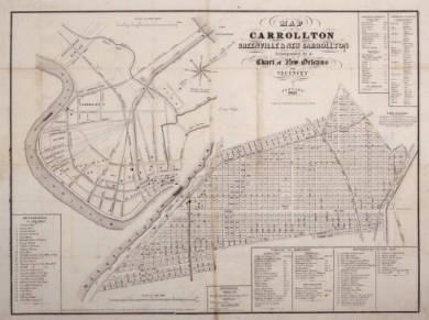 Street Map of Carroltton 1854 or 1855. <br /> <br />